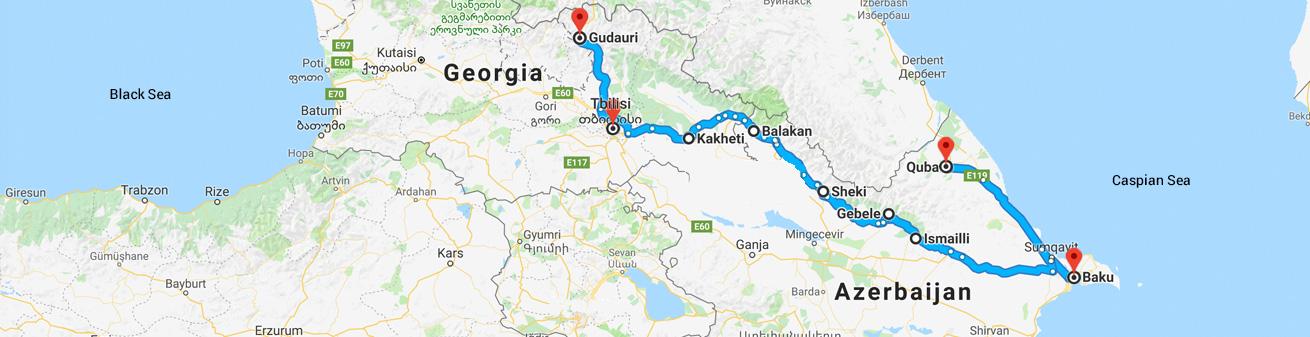 Colors of the Caucasus Map - Feride Buyuran Tours