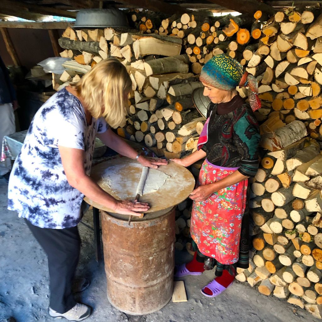 Bread baking class in Ehen village, Azerbaijan | Feride Buyuran Tours