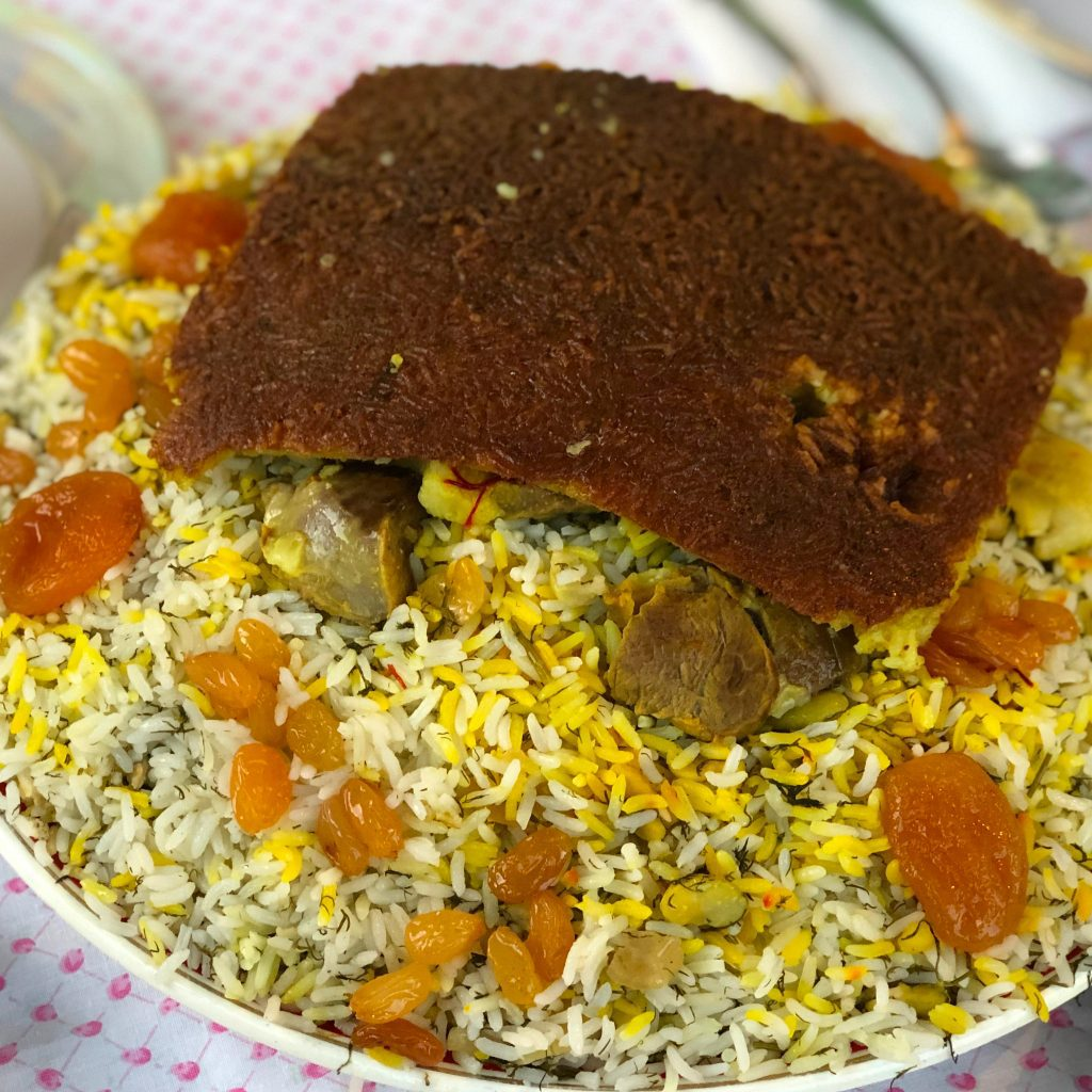 Rice pilaf with a golden crust, Sheki, Azerbaijan | Feride Buyuran Tours