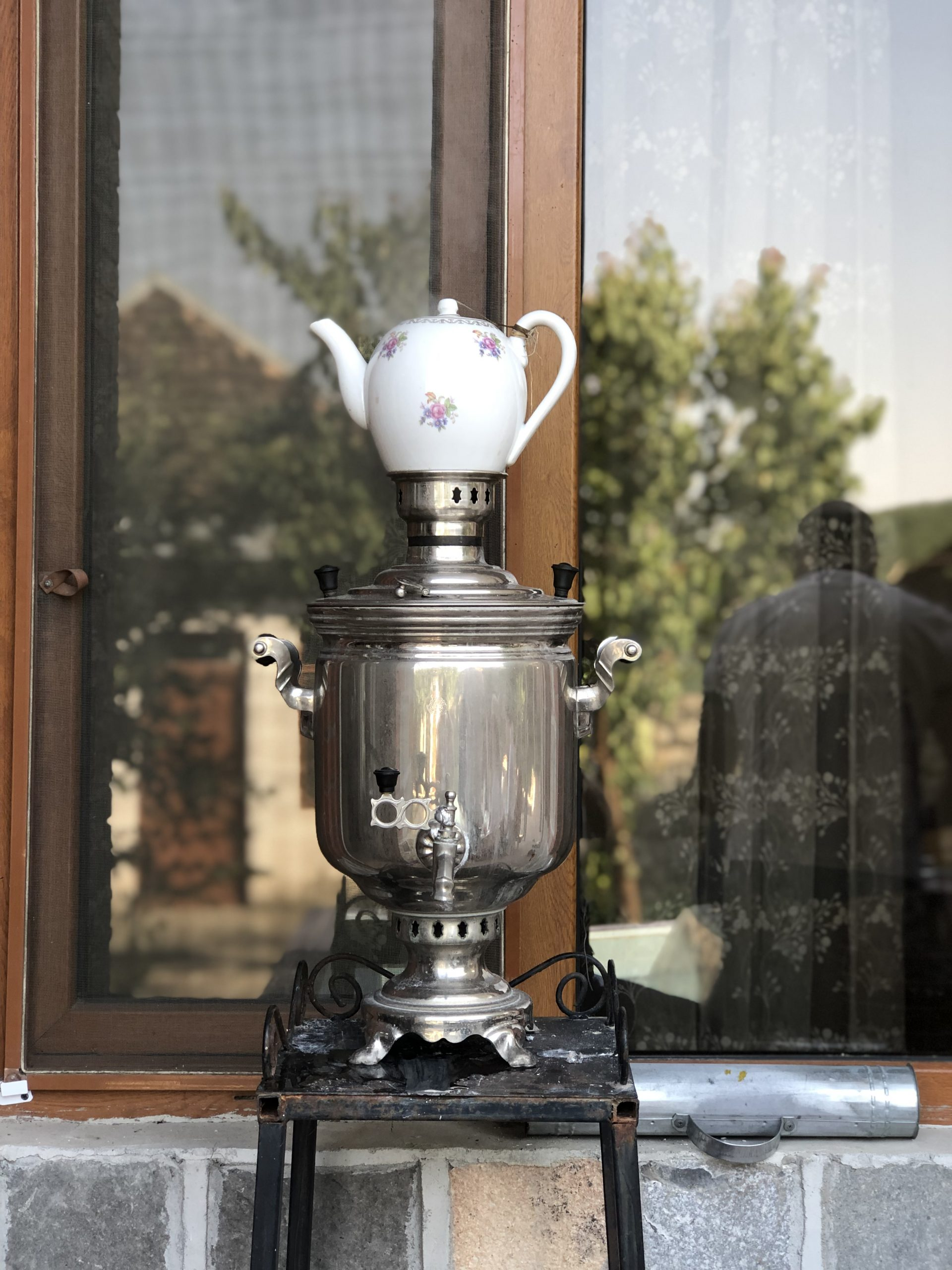 Tea from samovar in Sheki, Azerbaijan | Feride Buyuran Tours