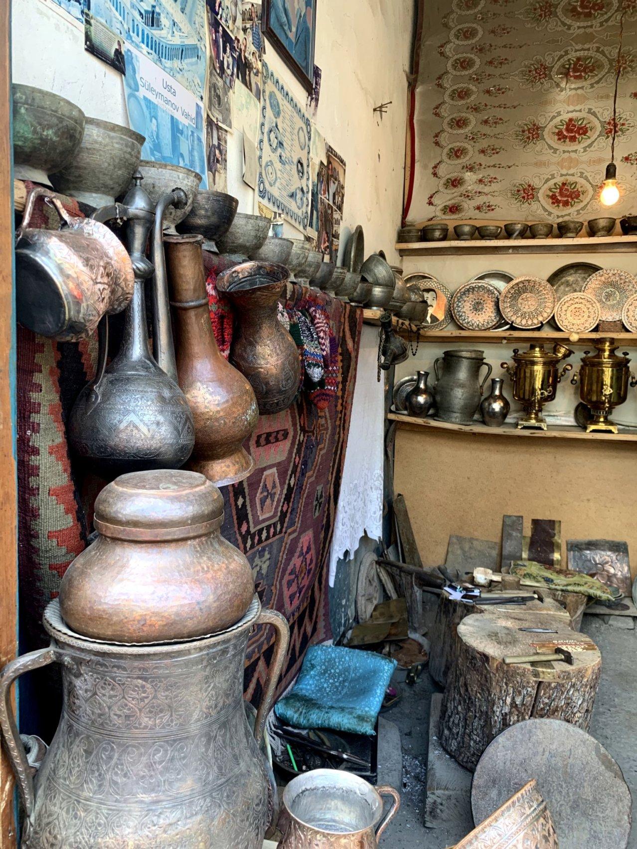 Artisan studio in Lahij village, Azerbaijan