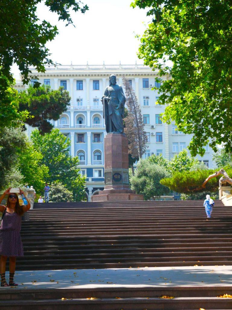 Nizami Monument, Baku | Feride Buyuran Tours