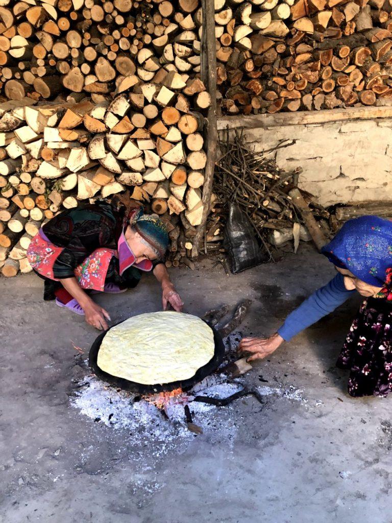 Bread baking in Ismayilli, Azerbaijan | Feride Buyuran Tours