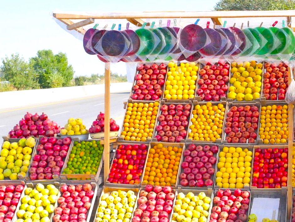 Roadside fruit stall | Feride Buyuran Tours